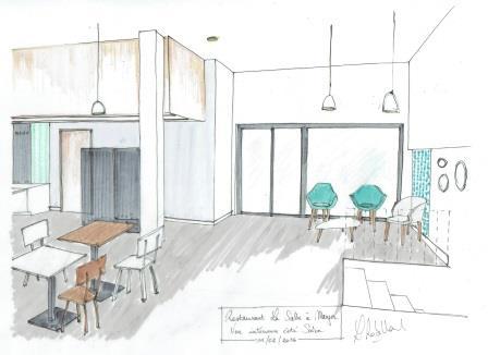 Un nouveau restaurant la salle manger grenoble la for Dessins de plan d architecture